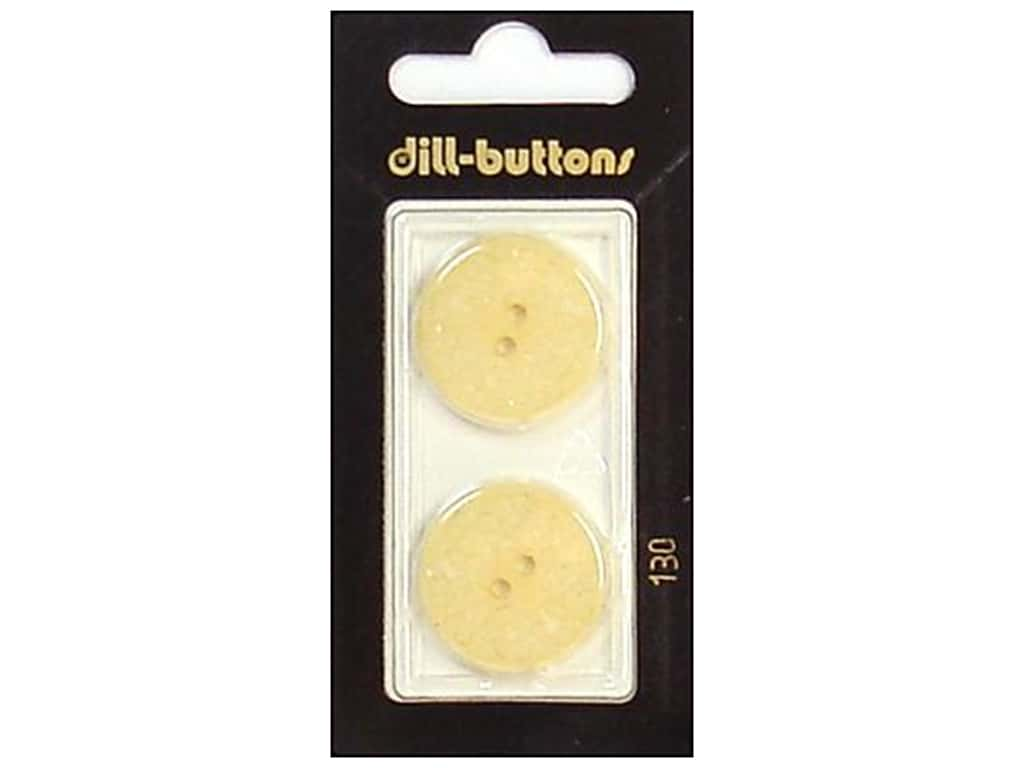 Dill 2 Hole Buttons 7/8 in. Ivory #130 2 pc.