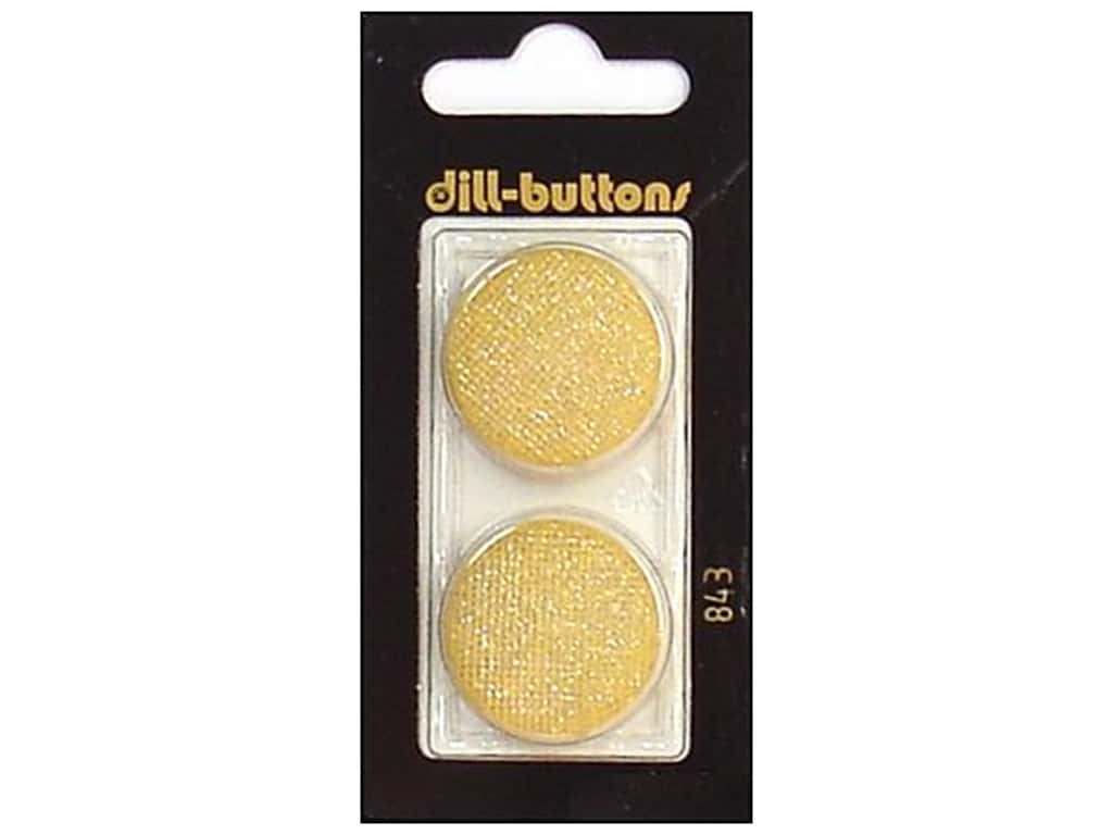 Dill Shank Buttons 1 in. Glitter Gold #843 2 pc.