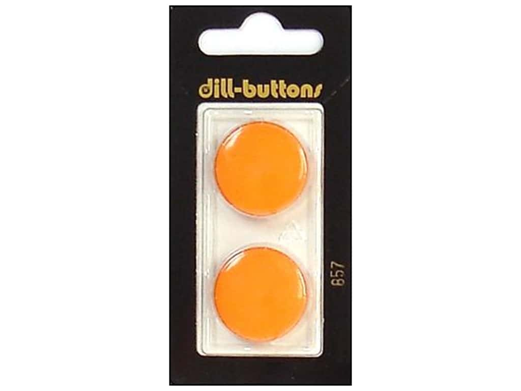 Dill Shank Buttons 7/8 in. Orange #857 2 pc.