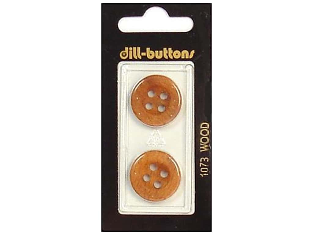 Dill 4 Hole Buttons 13/16 in. Wood Brown #1073 2 pc.