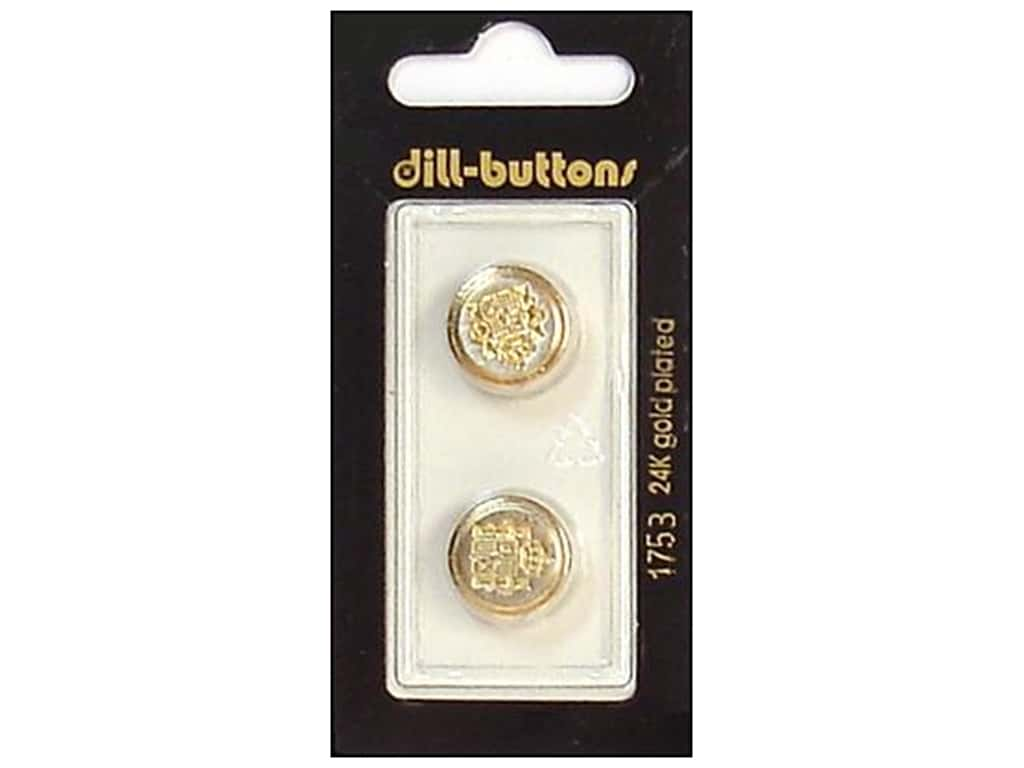 Dill Shank Buttons 5/8 in. Gold/Silver Metal #1753 2 pc.