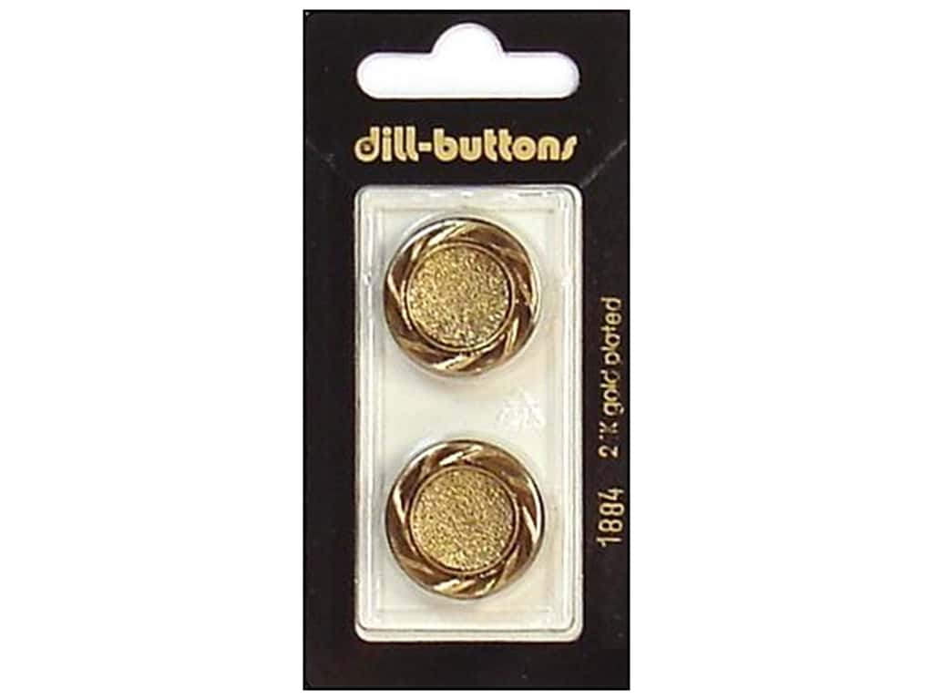 Dill Shank Buttons 7/8 in. Antique Gold #1884 2 pc.