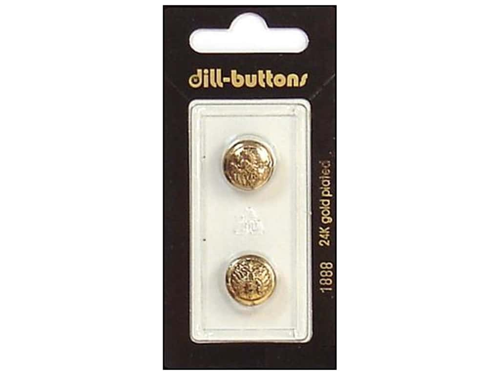 Dill Shank Buttons 9/16 in. Antique Gold #1888 2 pc.