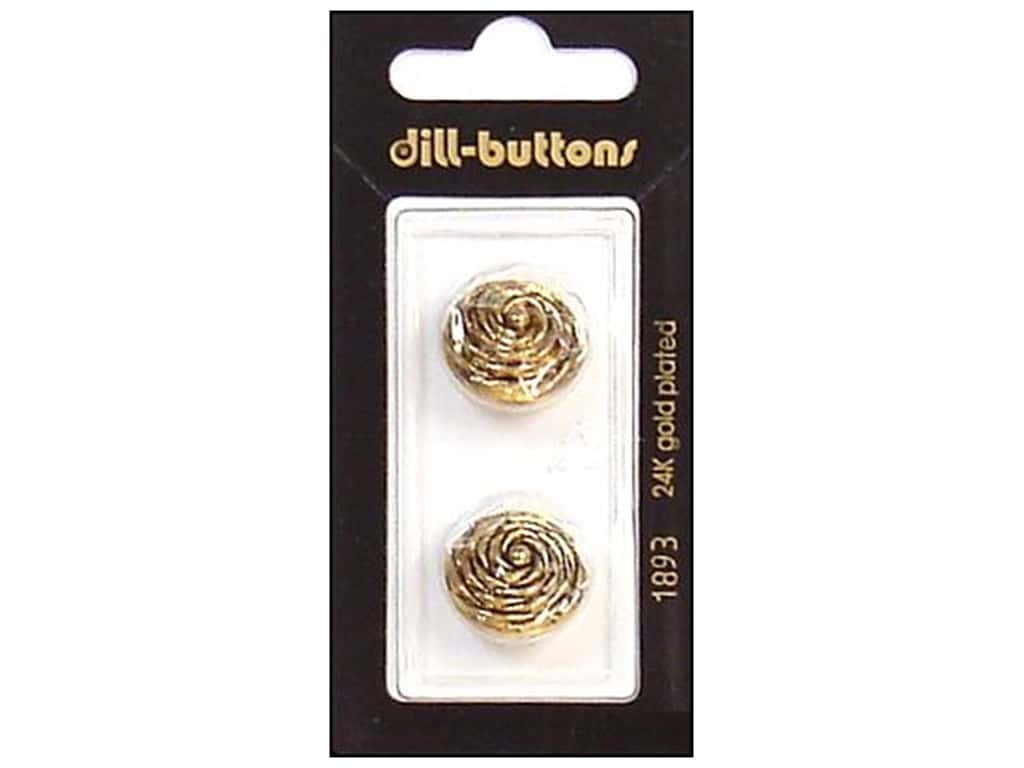 Dill Shank Buttons 11/16 in. Antique Gold #1893 2 pc.