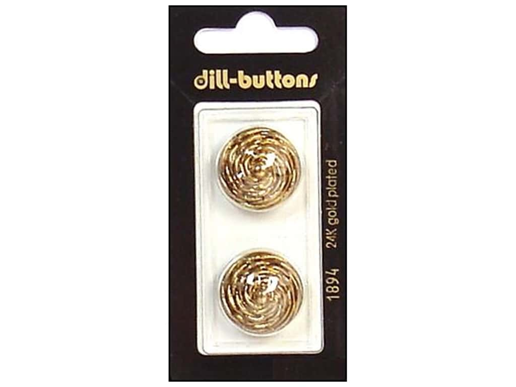 Dill Shank Buttons 7/8 in. Antique Gold #1894 2 pc.