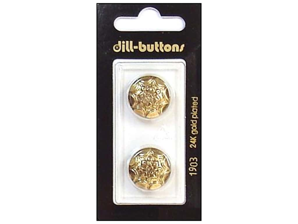 Dill Shank Buttons 11/16 in. Antique Gold #1903 2 pc.