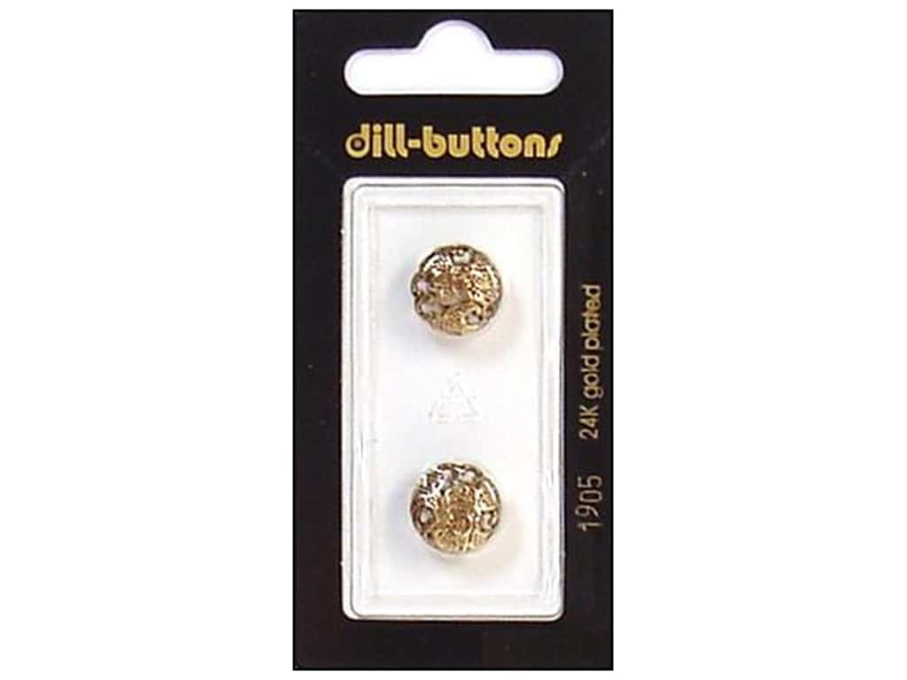 Dill Shank Buttons 1/2 in. Antique Gold #1905 2 pc.