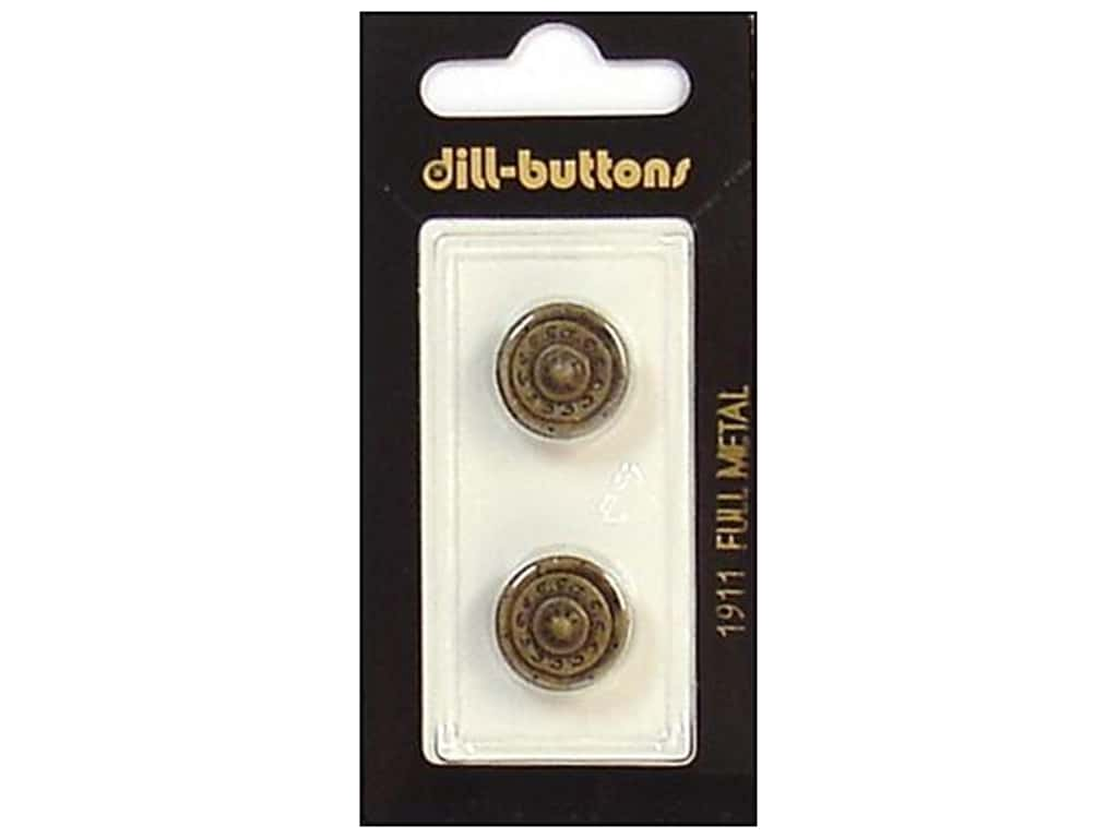 Dill Shank Buttons 5/8 in. Antique Brass Metal #1911 2 pc.