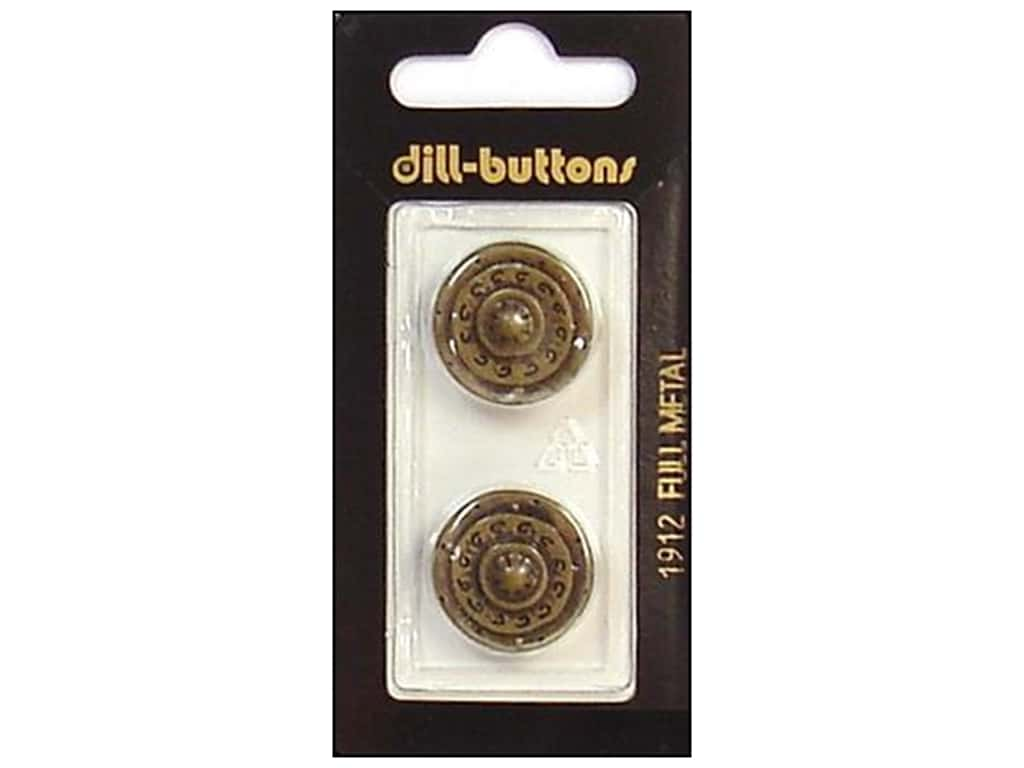 Dill Shank Buttons 13/16 in. Antique Brass Metal #1912 2 pc.