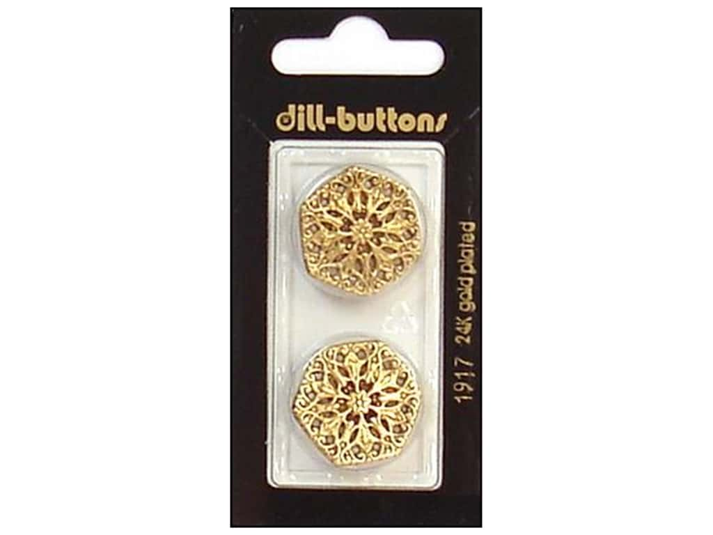 Dill Shank Buttons 7/8 in. Antique Gold #1917 2 pc.