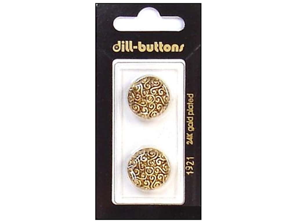 Dill Shank Buttons 11/16 in. Antique Gold #1921 2 pc.