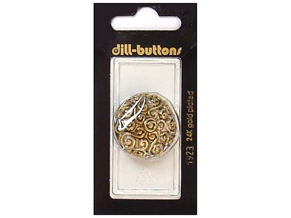 Dill Shank Buttons 1 1/8 in. Antique Gold #1923 1 pc.