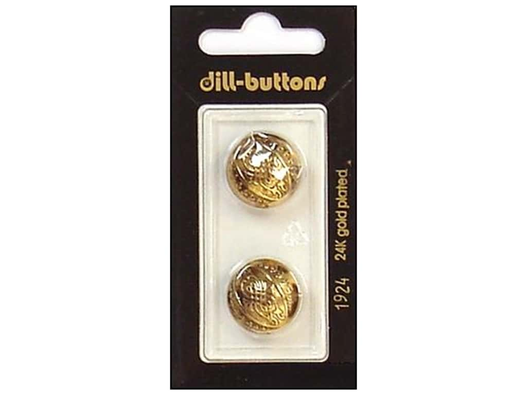 Dill Shank Buttons 11/16 in. Antique Gold #1924 2 pc.