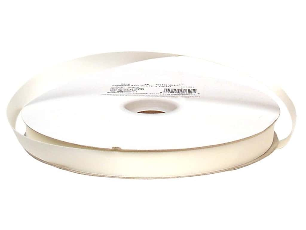 Offray Double Face Satin Ribbon 5/8 in. x 100 yd. Antique White (100 yards)