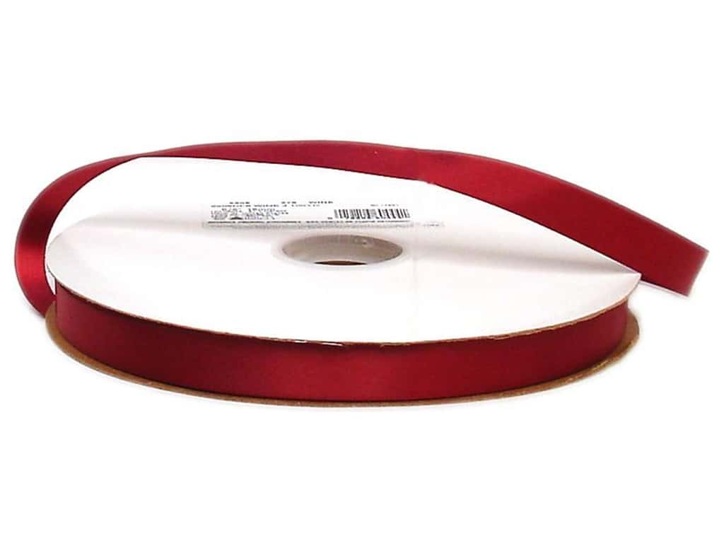 Offray Double Face Satin Ribbon 5/8 in. x 100 yd. Wine (100 yards)