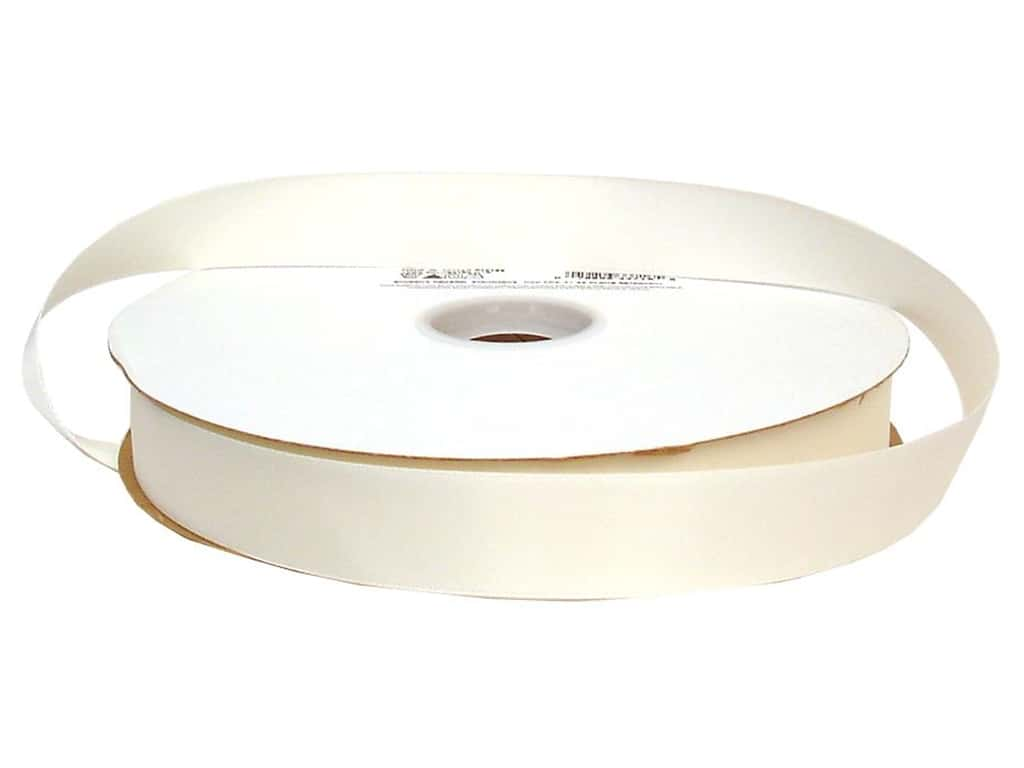 Offray Double Face Satin Ribbon 7/8 in. x 100 yd. Antique White (100 yards)