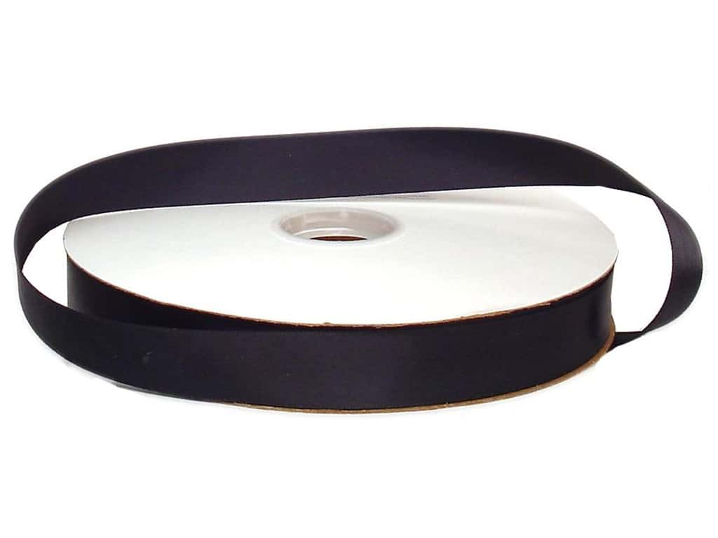 Offray Double Face Satin Ribbon 7/8 in. x 100 yd. Black (100 yards)