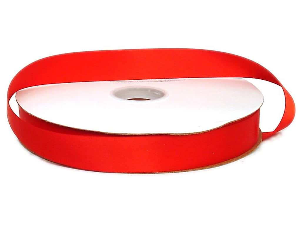 Offray Double Face Satin Ribbon 7/8 in. x 100 yd. Red (100 yards)