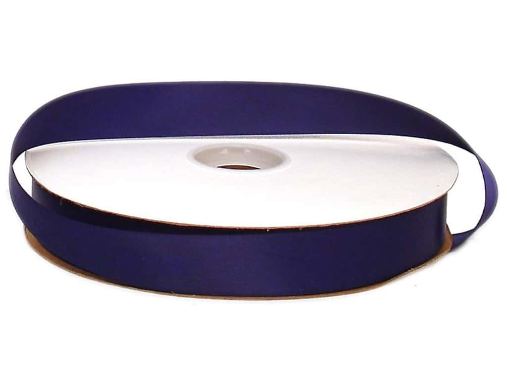 Offray Double Face Satin Ribbon 7/8 in. x 100 yd. Navy (100 yards)