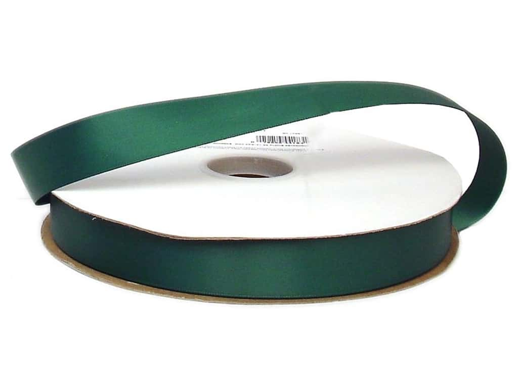 Offray Double Face Satin Ribbon 7/8 in. x 100 yd. Forest Green (100 yards)