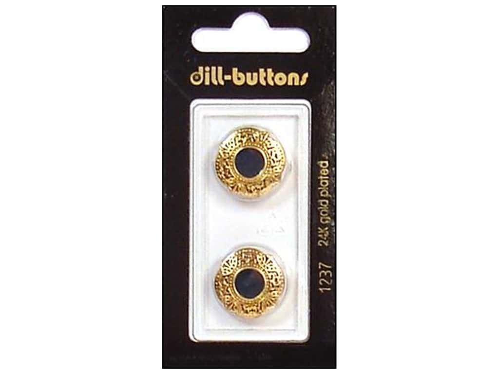 Dill Shank Buttons 11/16 in. Enamel Green/Gold #1237 2 pc.