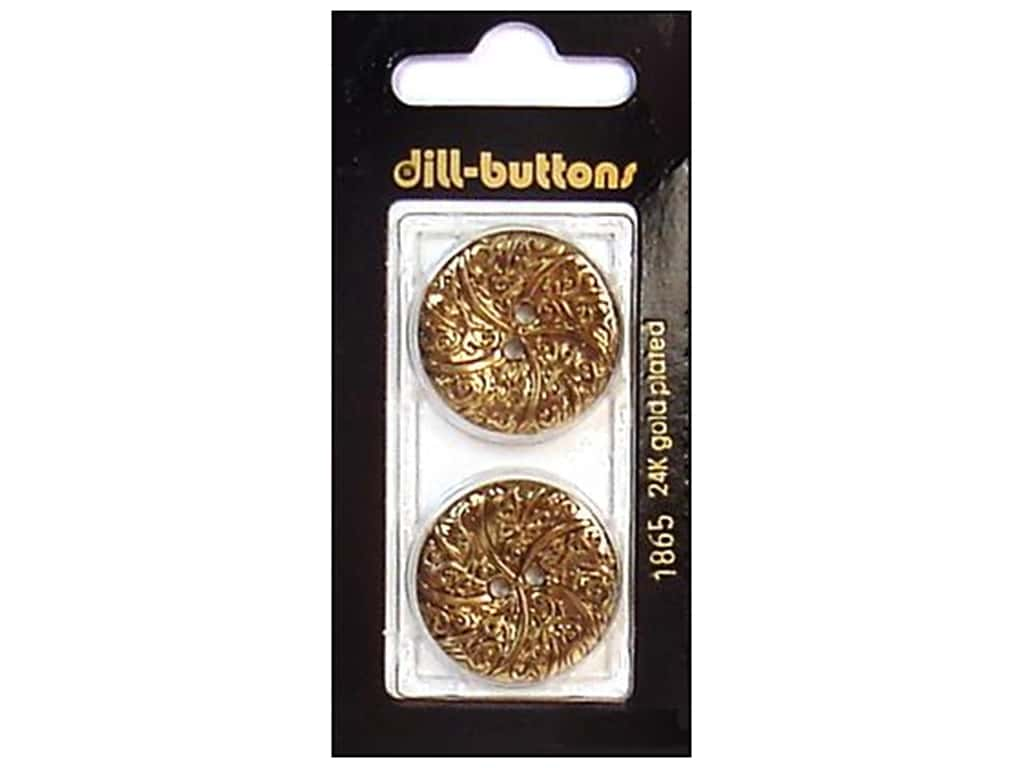 Dill 2 Hole Buttons 1 in. Antique Gold #1865 2 pc.