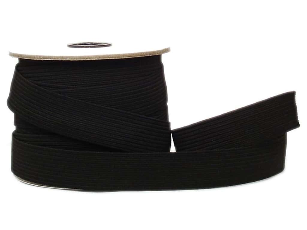 Conrad Jarvis Braided Flat Elastic 1 in x 20 yd Black (20 yards)
