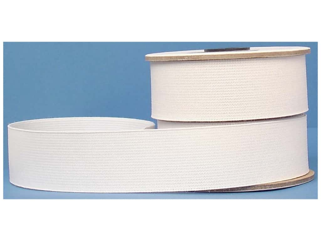 Conrad Jarvis Heavy Duty Knit Elastic Reel 1 1/2 in x 15 yd White (15 yards)
