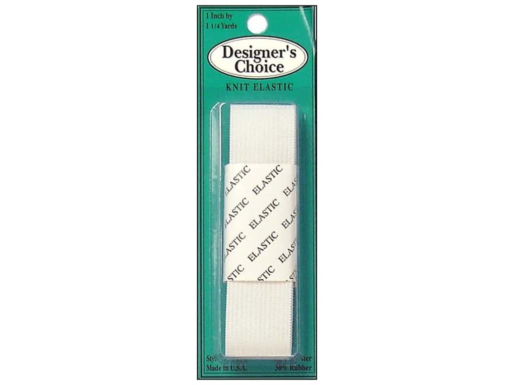 Conrad Jarvis Knit Elastic 1 in x 1 1/4 yd White