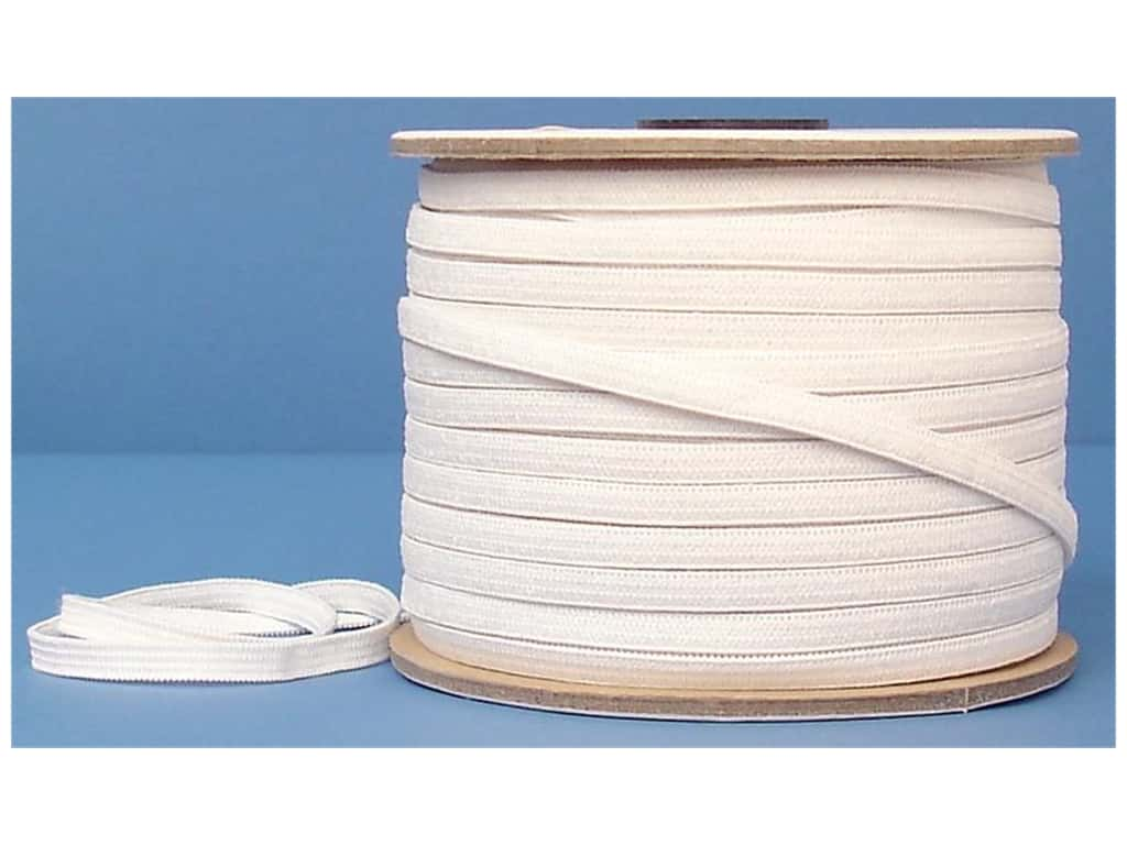 Conrad Jarvis Knit Elastic Reel 1/4 in x 100 yd White (100 yards)