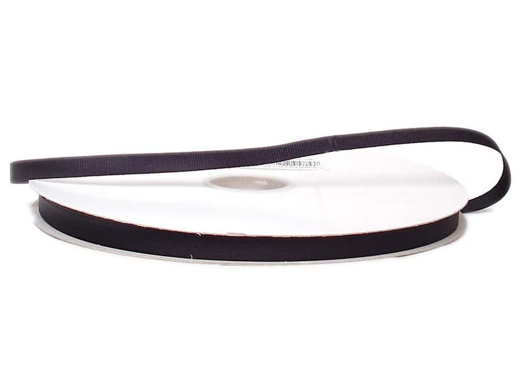 Offray Grosgrain Ribbon 3/8 in. x 100 yd. Black (100 yards)