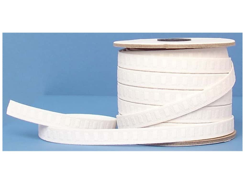 Conrad Jarvis No Roll Elastic Reel 1/2 in x 30 yd White (30 yards)