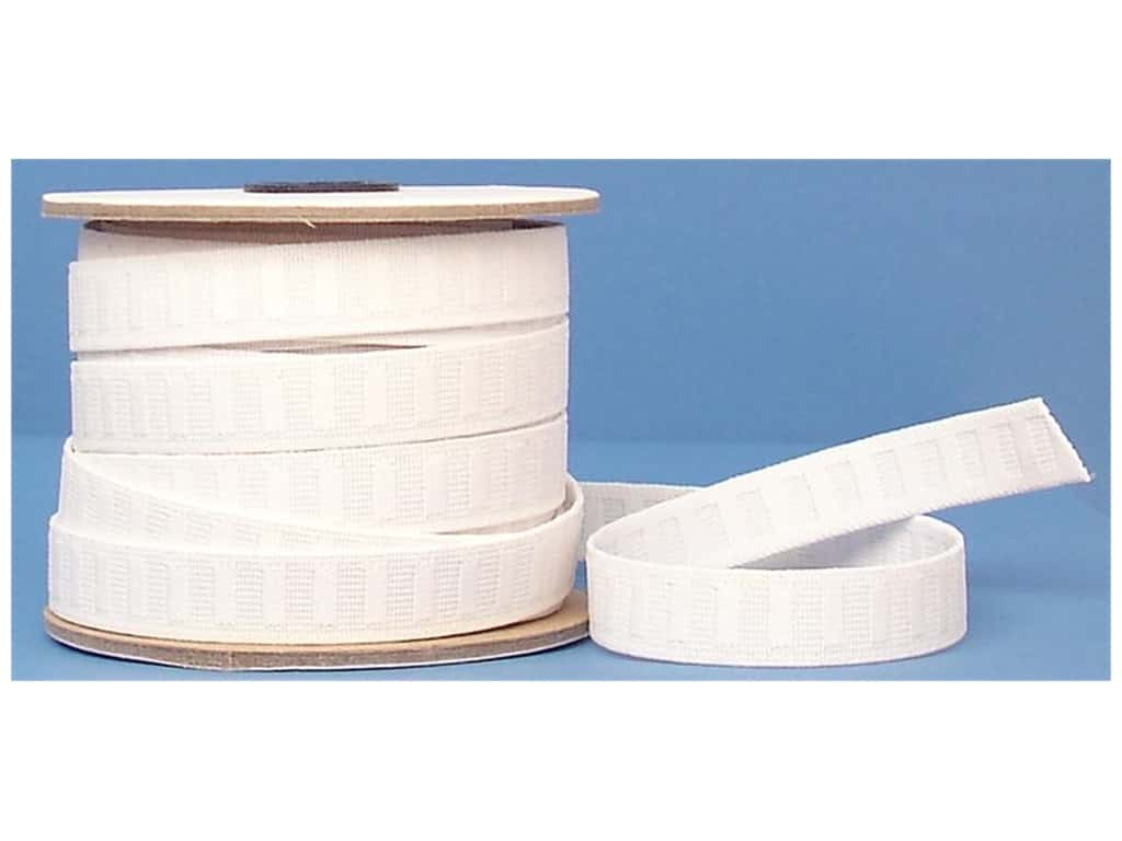 Conrad Jarvis No Roll Elastic Reel 3/4 in x 20 yd White (20 yards)