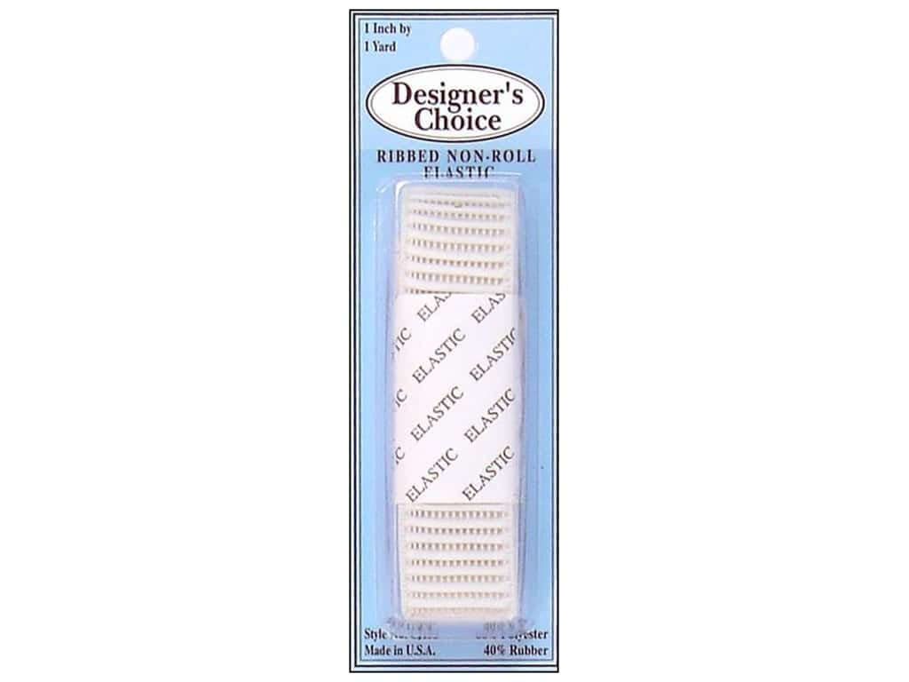 Conrad Jarvis Ribbed Non Roll Elastic 1 in x 1 yd White