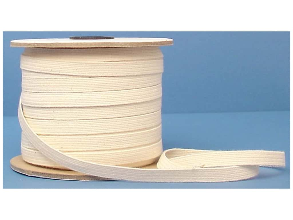 Conrad Jarvis Cotton Swim Elastic Reel 3/8 in x 70 yd Natural (70 yards)