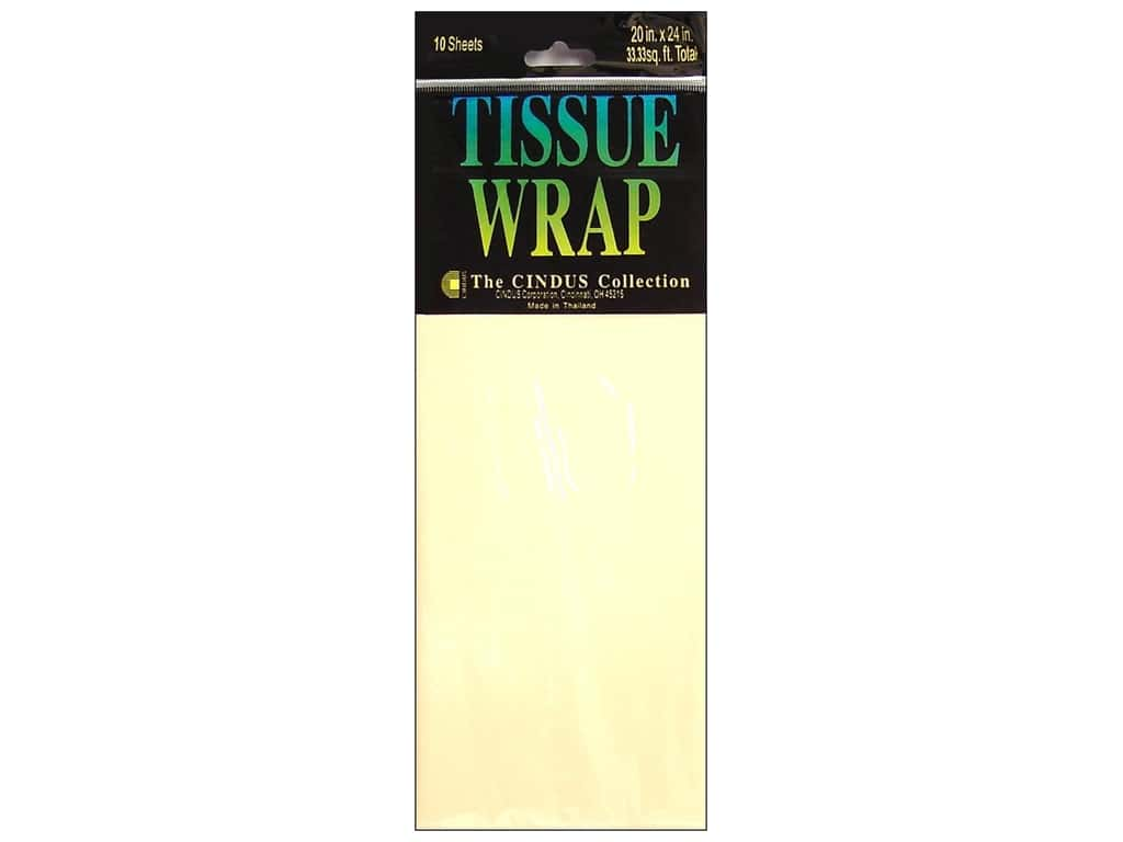 Tissue Paper by Cindus 20 x 20 in. Solid Ivory 10 pc.