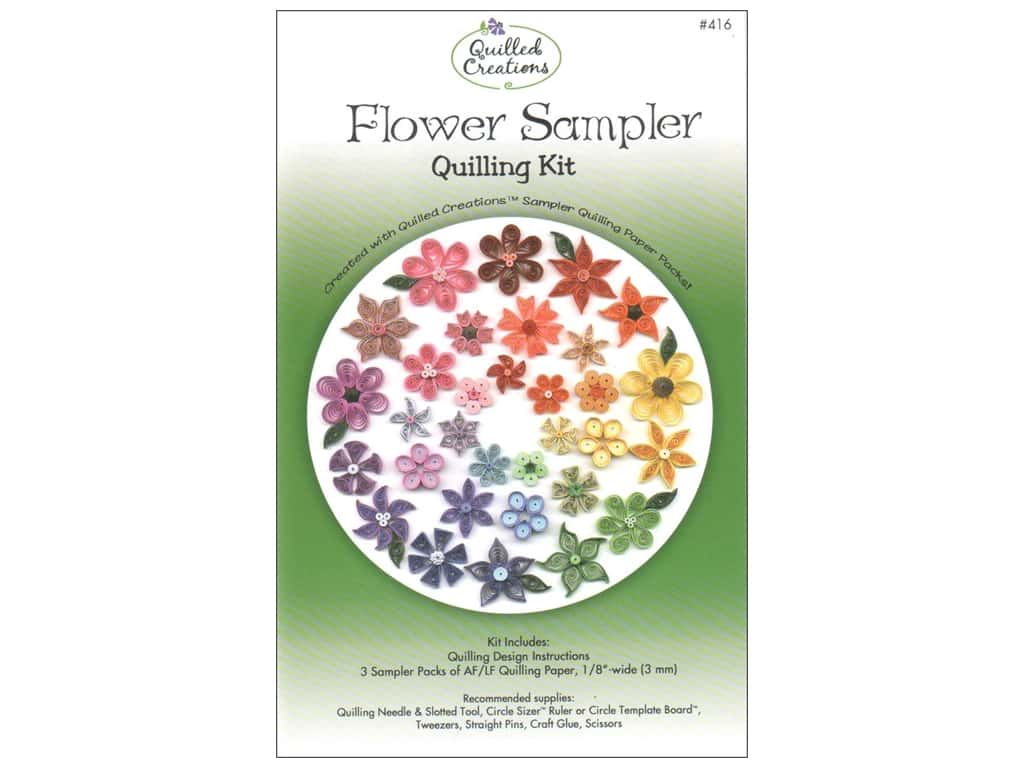 Quilled Creations Flower Sampler Quilling Kit