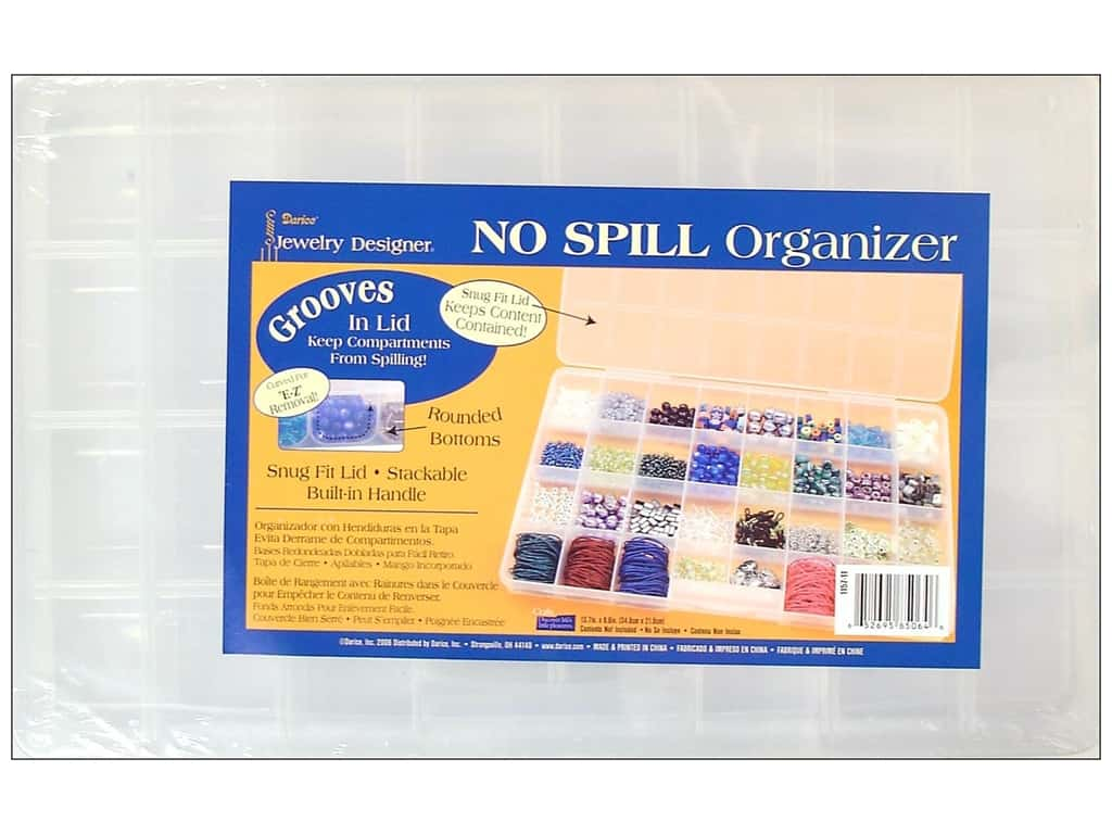 Darice No Spill Organizer 13 5/8 x 8 1/2 x 1 3/8 in. with 32 Compartments