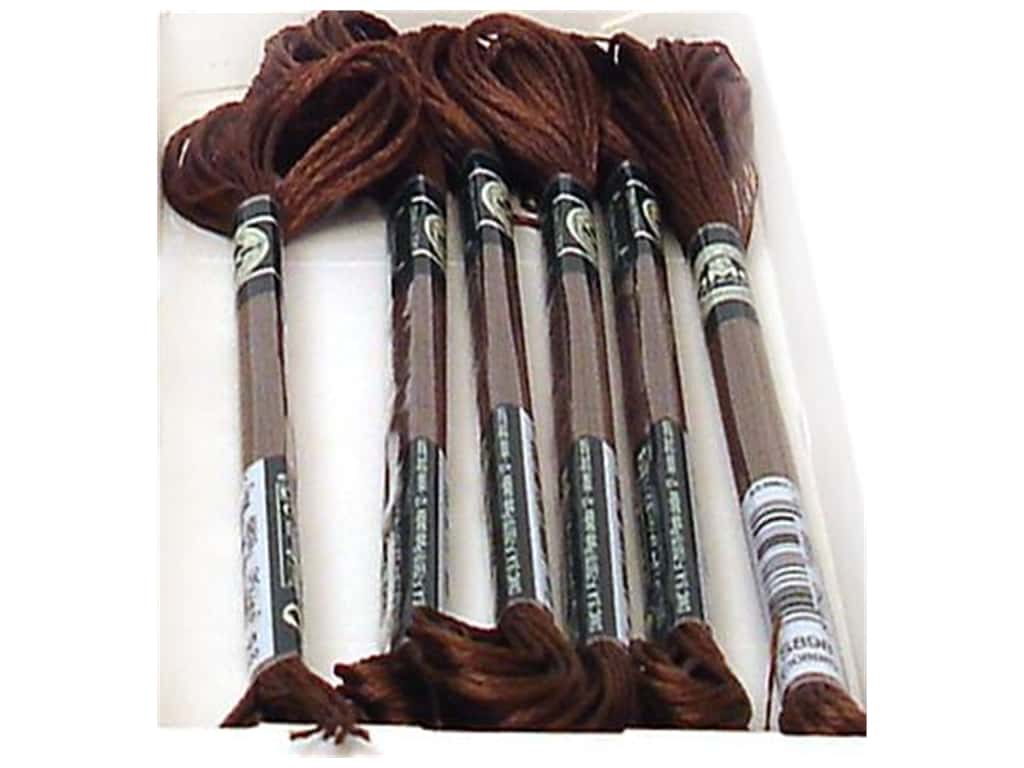 DMC Satin Embroidery Floss #S898 Shadow Brown (6 skeins)