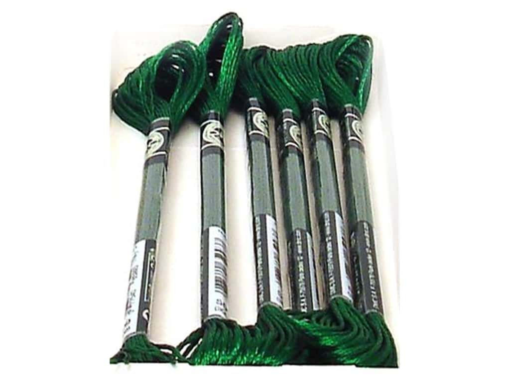 DMC Satin Embroidery Floss #S909 Emerald Green (6 skeins)