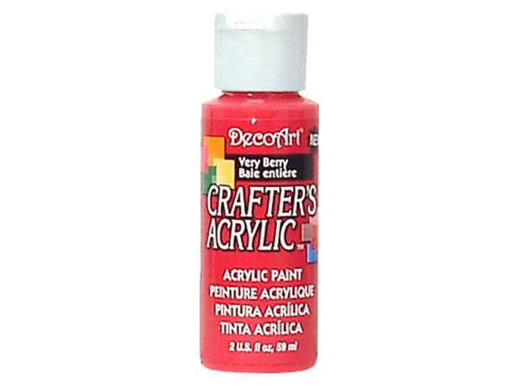 DecoArt Crafter's Acrylic Paint - #121 Very Berry 2 oz.