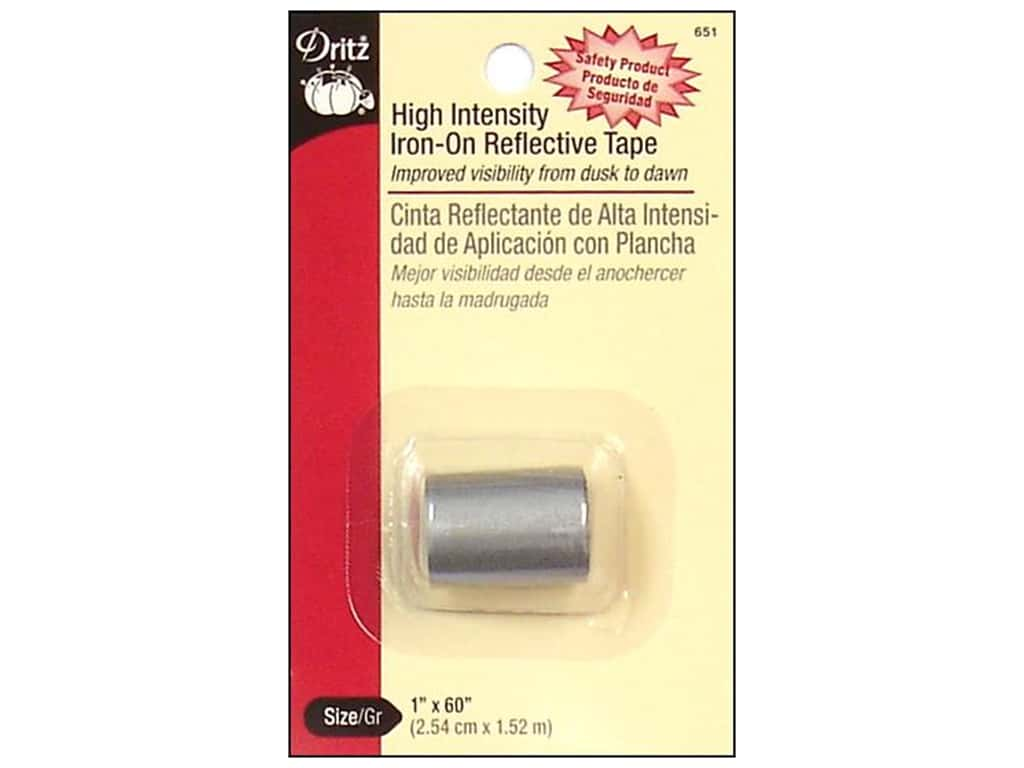 Iron-On Reflective Tape by Dritz Grey