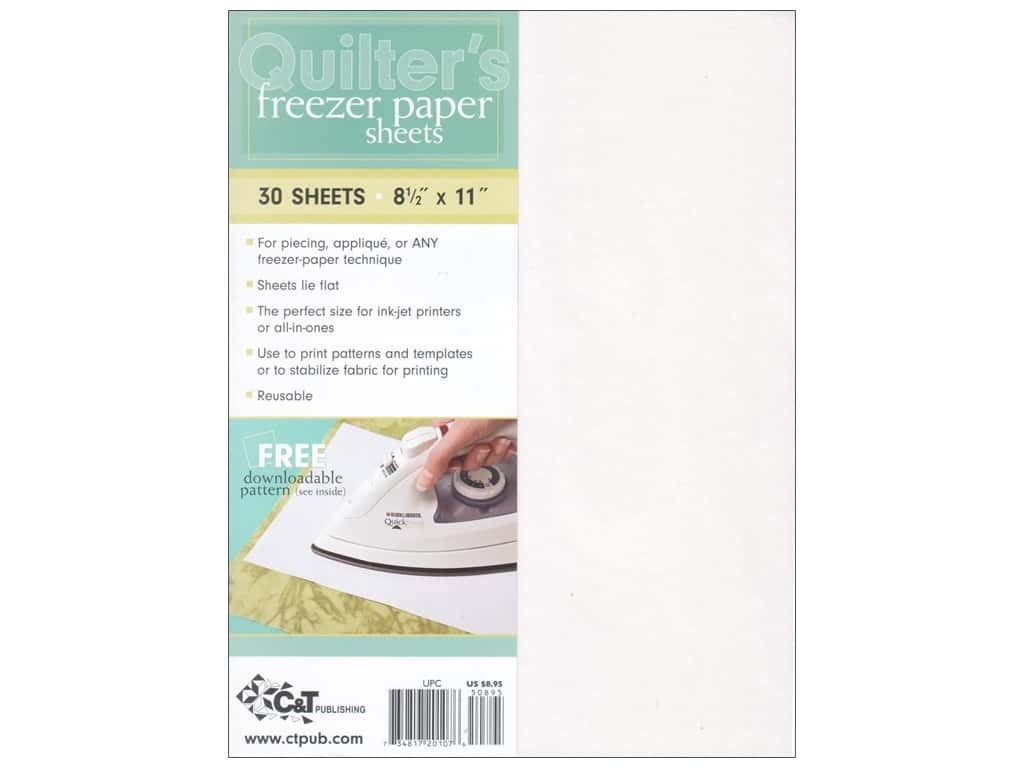C&T Publishing Quilter's Freezer Paper Sheets 8 1/2 x 11 in. 30 pc.