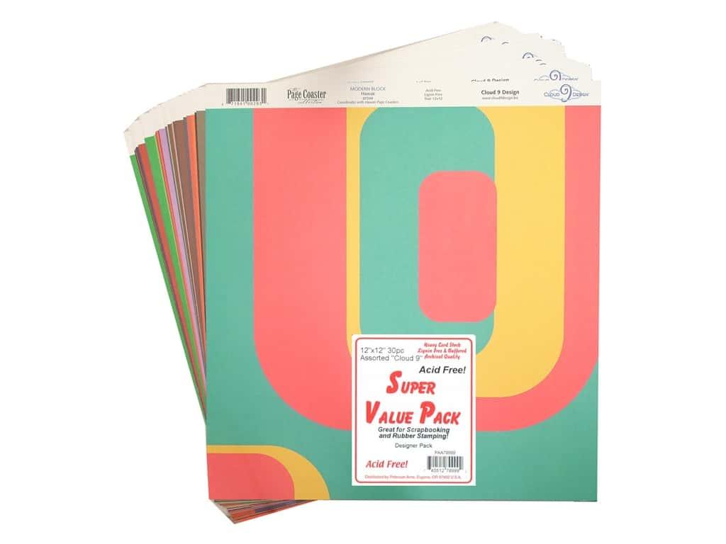 "PA Super Value Pack Designer Paper 12""x 12""  Assorted 20pc"