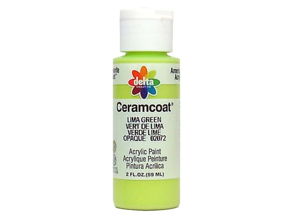 Delta Ceramcoat Acrylic Paint 2 oz. #2072 Lima Green