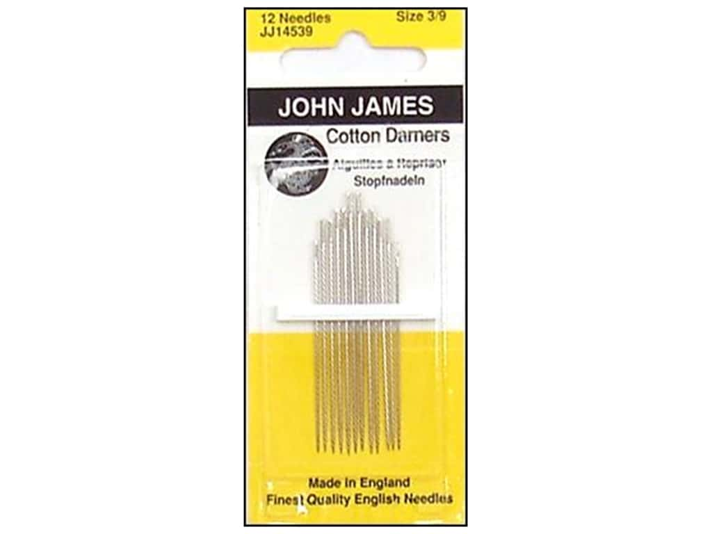 John James Cotton Darning Needles Size 3/9 12 pc.