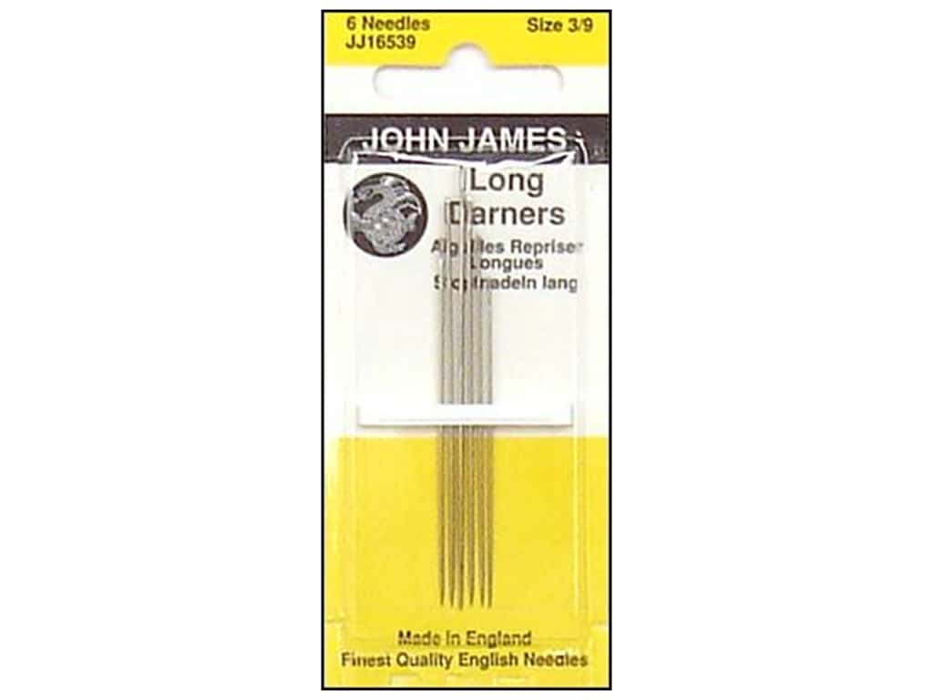 John James Long Darner Needles Size 3/9 6 pc.