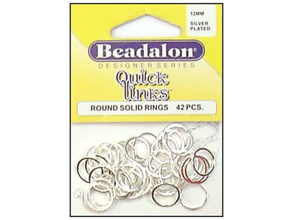 Beadalon Quick Links Round 12 mm Silver Plated 42 pc.