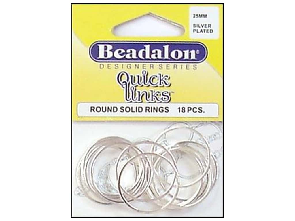 Beadalon Quick Links Round 25 mm Silver Plated 18 pc.