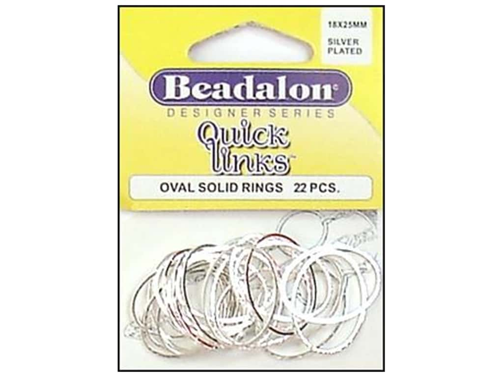 Beadalon Quick Links Oval 18 x 25 mm Silver Plated 22 pc.
